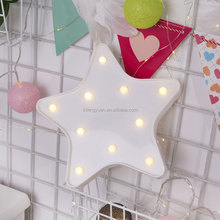 Light Lovely Star shaped LED plastic Sign-Lighted mrquee STAR sign wall decor battery operated