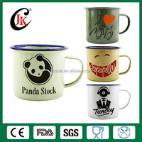 Wholesale customized cup logo printing camping enamel mug