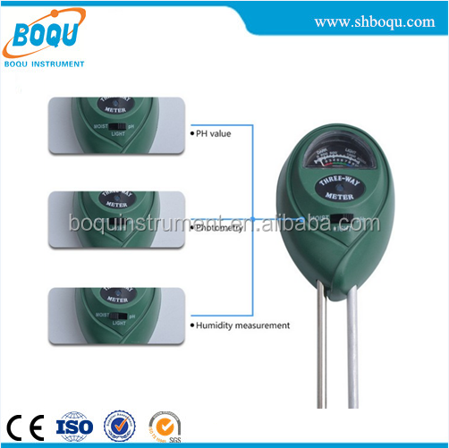 BO-02 3 in 1 Top quality hydroponic soil PH /Moisture/Light meter