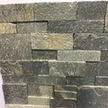 Grey slate cultural stone panels