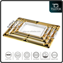 Stainless Steel Decorate Indian Wedding decoration Trays