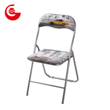 Home furniture pvc photo printing lifetime party folding chair metal