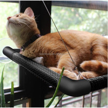 Window Mounted Cat Bed with Big Suction Caps-upgraded version holds 60lbs