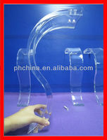 ATL-005 LATEST PLEXIGLASS TABLE LEGS,CRYSTAL CLEAR CONSOLE TABLE LEG