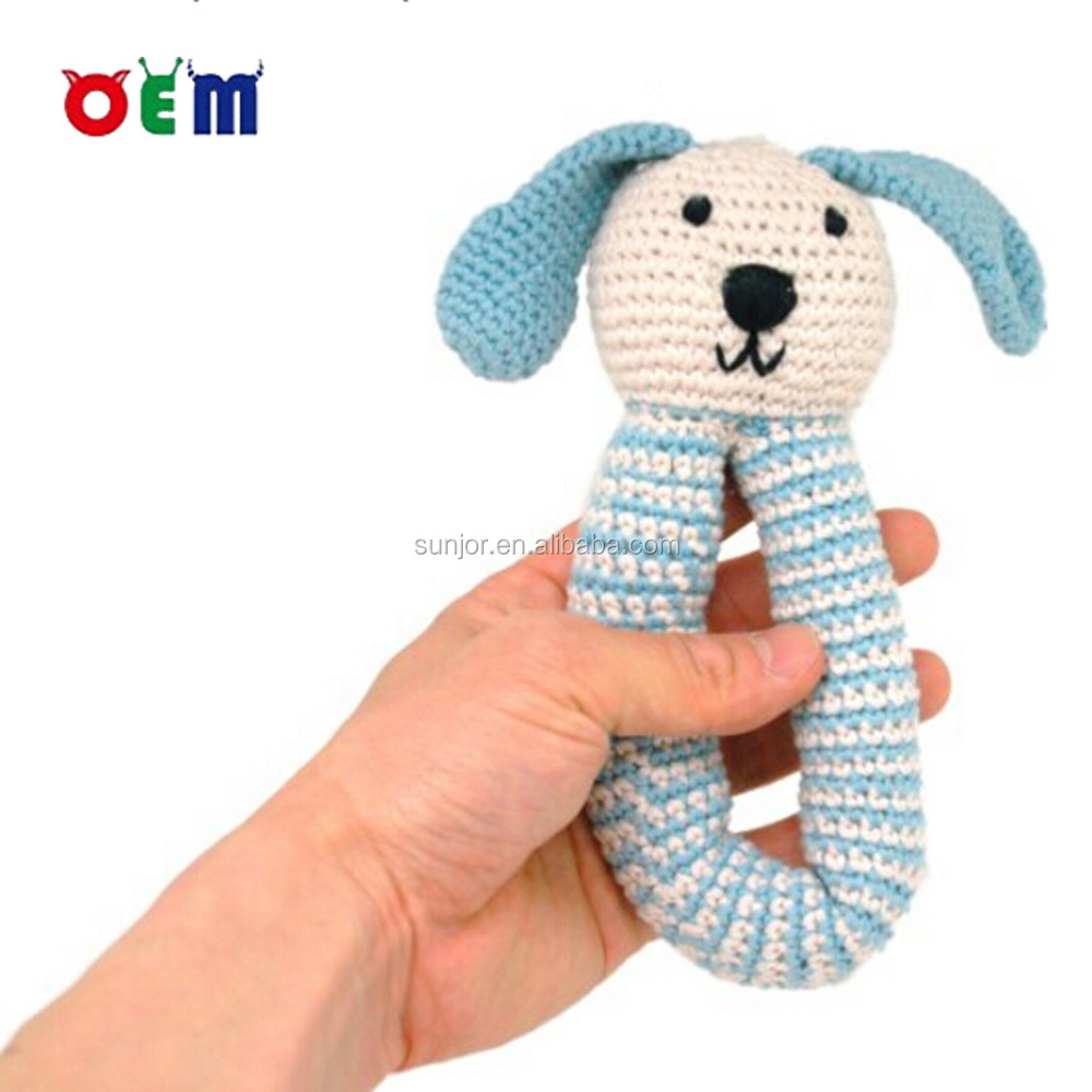 Crochet Animal toys Knitting Hand Crochet Bunny Rattle Toy