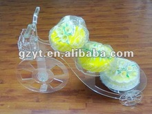 Acrylic multi-layer bicycle floating Christmas cake decoration cup cake stand