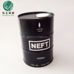 Factory direct sales vodka/wine packaging,color printing tin box