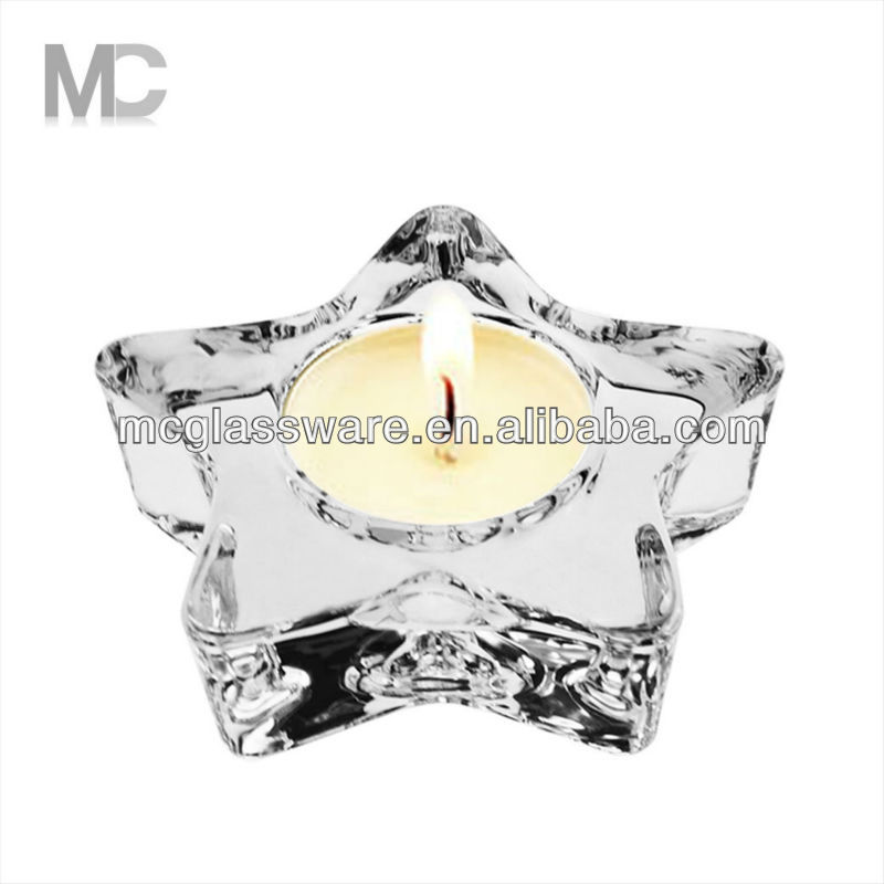 Hot Star Shape Decorative Tealight Votive Glass Candle Holder