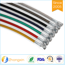 ptfe hose assemblies with motorcycle fiber braided teflon fuel line tube oil hose