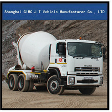 ISUZU trucks 6X4 mixer truck with 8-12 M3 mixer tank