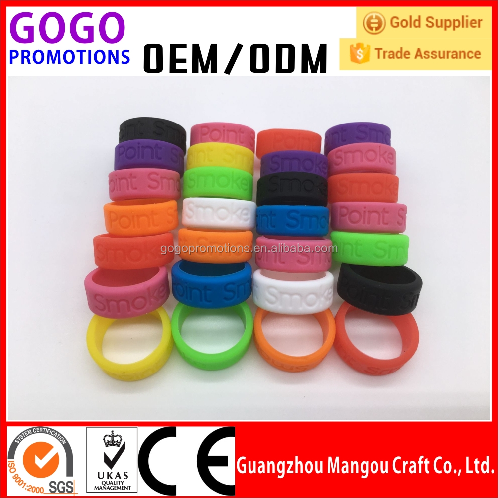 Wholesale Decorative Protective Anti-slip 19mm Diameter Silicone Vape Band manufacture silicone rings vapor bands with logo