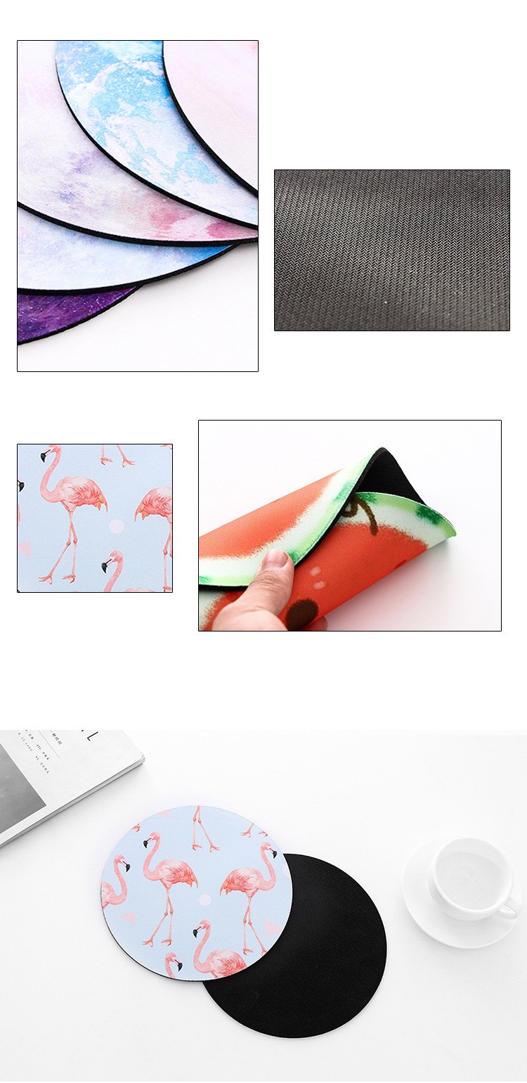 High Quality Customized Transfer Printing Round Shape Mouse Pad