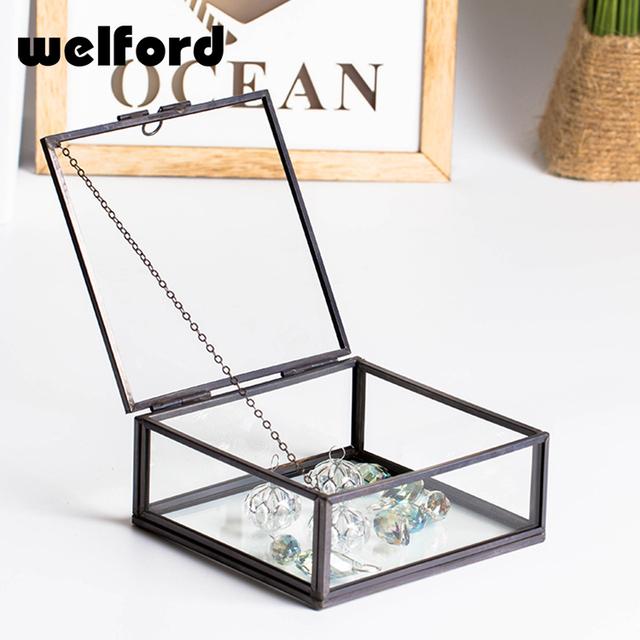 Brass metal glass man watches bracelet jewelry boxes