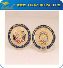 Custom american navy metal gold plated replica decorative coins for sales