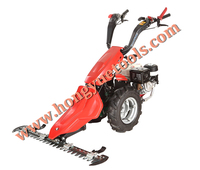 BCS two wheel walking behind hand tractor with sickle bar mower for grass cutting