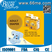 printed PE back sheet High absorption dry soft disposable adult diaper for old women and man
