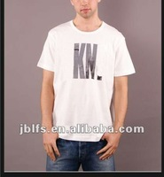 mens english letters printing t shirt