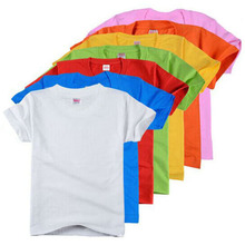 High quality simple children blank plain cotton t-shirt for children