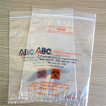 Removable Biohazard Symbol Specimen Bags/ 4-Wall Laboratory Bags