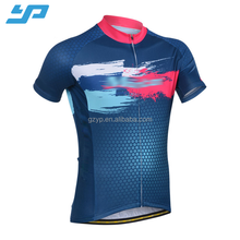 Custom sublimation printing cycling jerseys, latest short sleeve quick dry cycling bicycle jersey