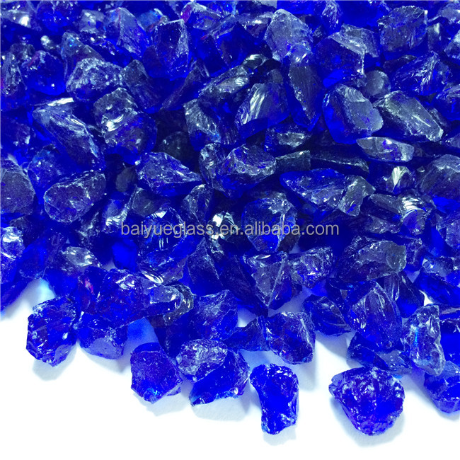 China good price colored slag landscaping glass rock with 1-3mm 3-6mm 6-9mm 9-12mm 12-20mm 20-50mm