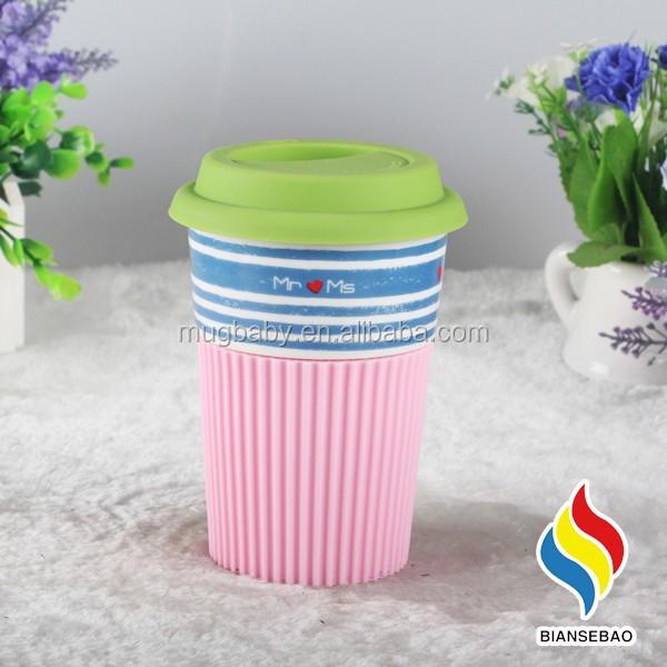 Gro handel keramik becher mit silikon deckel und ring for Deckel edelstahlbecher