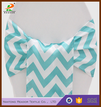 whosale cheap chevron stripe wedding banquet chairs cover satin sashes decoration