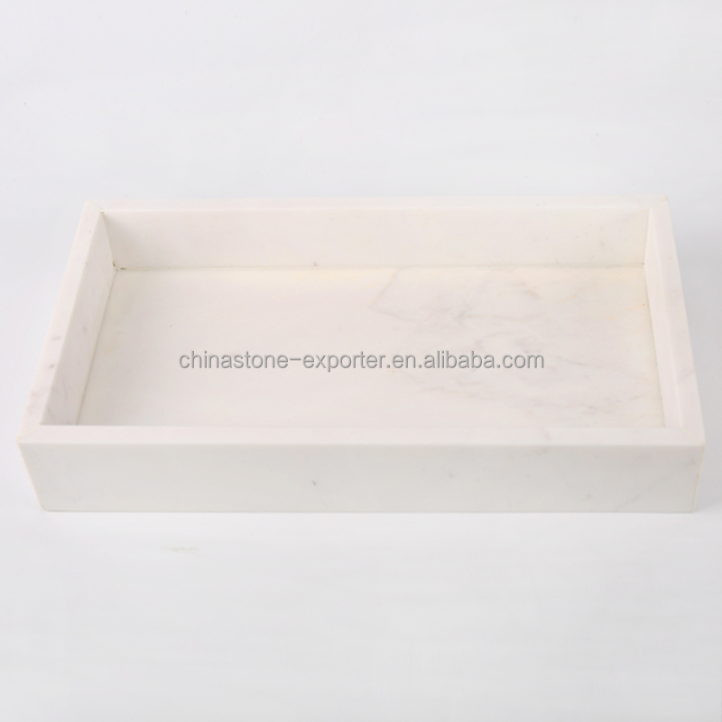 2016 New design Volakas White Marble Tray for Restaurant/Hotel/Home
