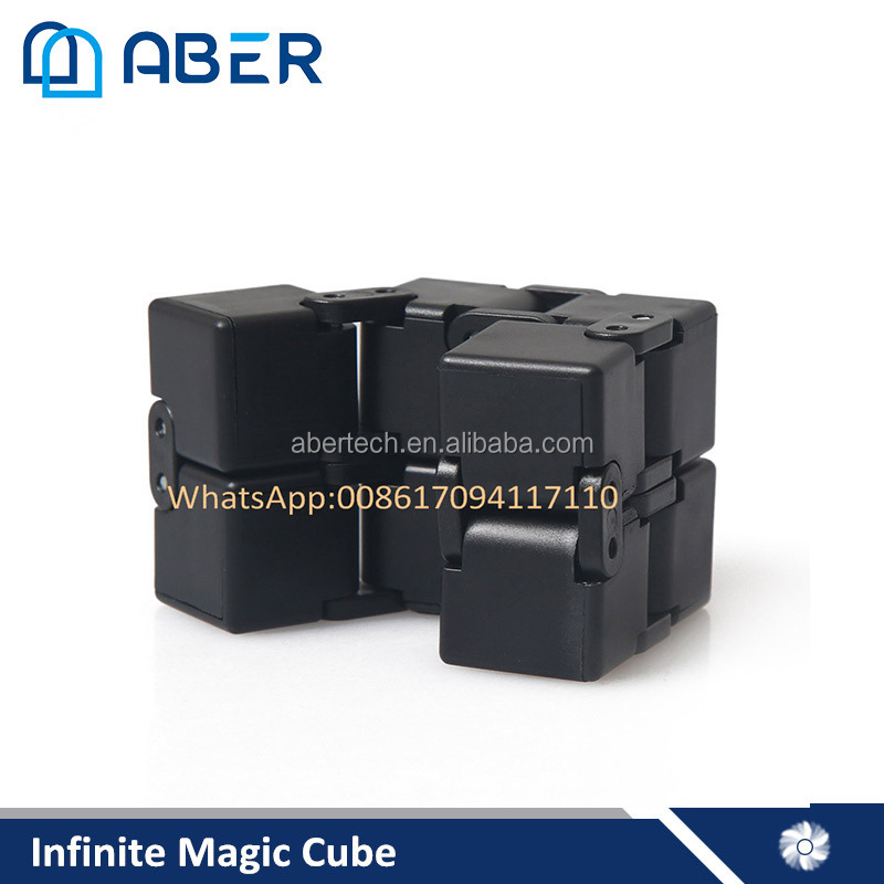 Latest Customized Anti-Stress Magic Infinity Cube Fidget Desk Toys Plastic Fidget Cube