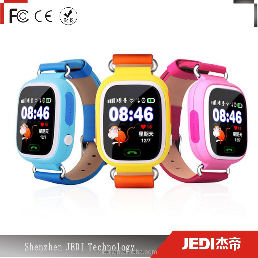 Kids tracking watch phone q90 g72 smart watch pink,blue and orange_HL2056