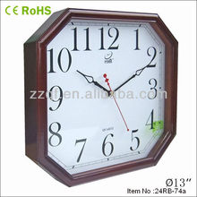 2013 New style fashion wooden square wall clock