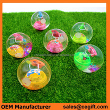 Hot selling cheap 45mm,55mm,65mm rubber Led bouncy ball with string