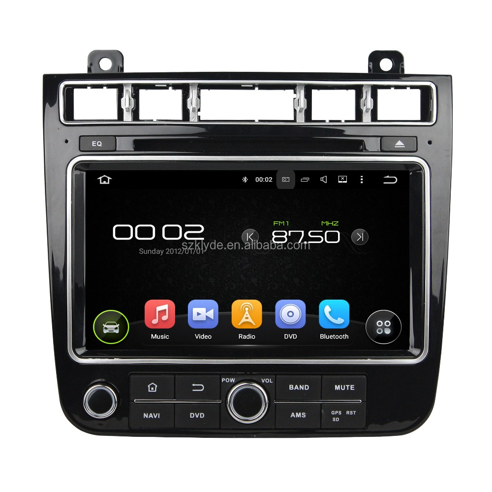 "Touch screen built-in GPS MP3 MP4 CD Player, bluetooth-enabled, TV combination and 8"" screen size car stereo for TOUAREG 2016"