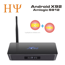 [Genuine] X92 2G 16G TV Box Amlogic S912 Android 6.0 Octa-core 2.4GHz 5.8GHz WiFi HD 2.0a with USB 2.0 AV LAN Smart TV Box