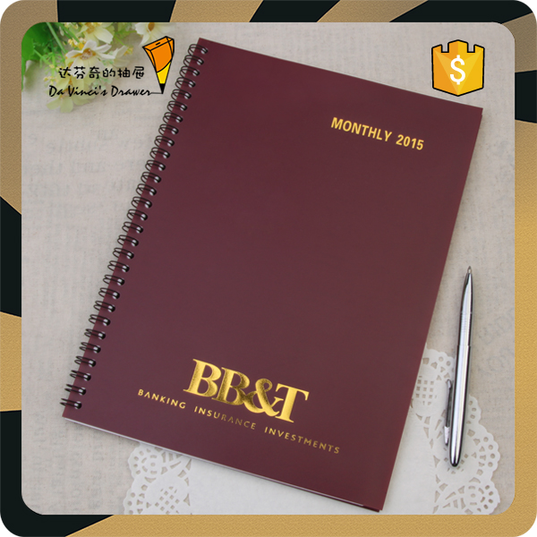 Pvc Sprial Notebook Plastic Planner