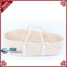 SD white durable woven baskets made of straw