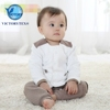 Infant & Toddlers White Organic Cotton Quilted Baby Product Winter Coat Jacket