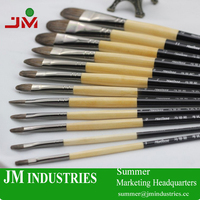 professional stationery art and crafts oil paint brush set for kids gift with wood handle