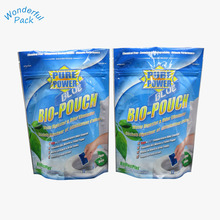 Custom design stand up laundry detergent packaging washing powder plastic bags with ziplock