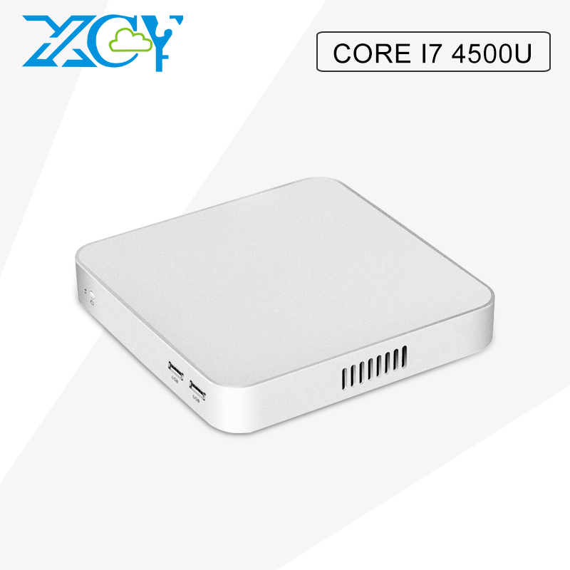 XCY 2017 Factory Wholesale mini computer Core I7 4500U High-profile high-performance fanless computer