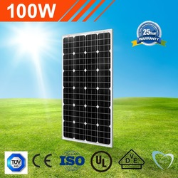 best price power hot sale A grade silicon mono crystalline 18v 100W solar power panels
