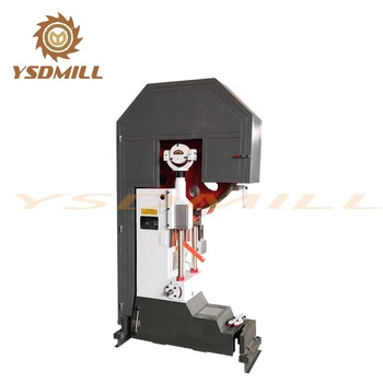 Vertical bandsaw for cutting wood toplayer