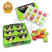 Good Taste Halal Colorful Fruity Chewing Gum In Blister Pack