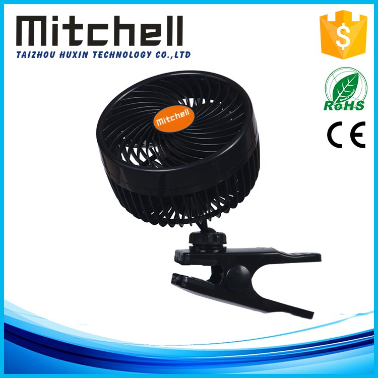 6inch car fans engineering plastics clip dc brushless fan