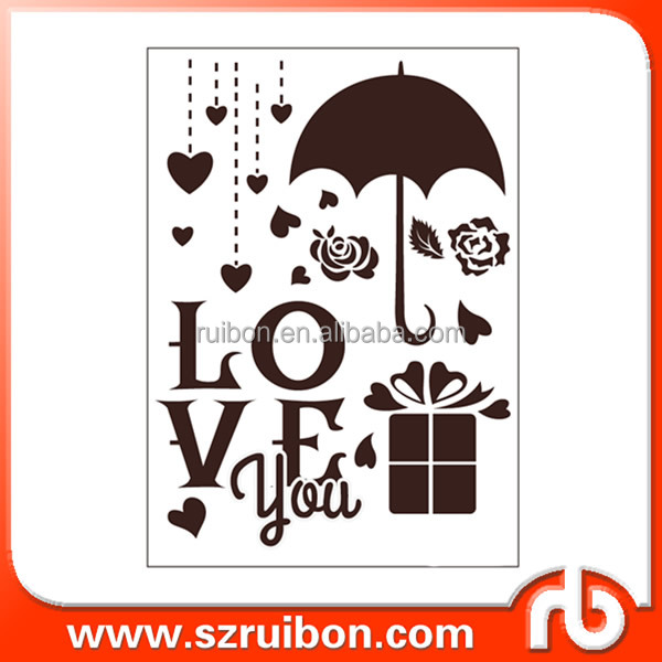 Valentines Day Love Heart Stencil-Reusable Stencils for Painting-Use on Walls, Floors, Fabrics, Glass, Wood, Cards, and More