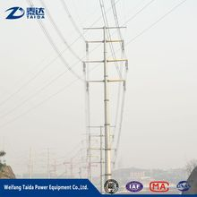 10kv 35KV 69kv 132kv 138kv 161kv power tower gavanized transmission line pole