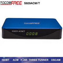TOCOMFREE S929 ACM/T H.265 With WiFi Satellite Receiver DVB-S2 with ISDBT IKS SKS FREE Support