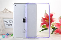 2 in 1 Slim Crystal Clear Soft TPU Transparent Back Cover Case with Dust Plug For Apple iPad mini 2