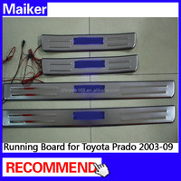 Door sill Scuff Plate with LED for Toyota Prado FJ120 Door Sill Plate auto parts from Maiker
