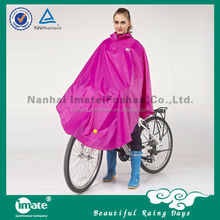 Diaphanous cheap rain poncho for bicycle